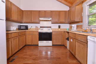Pigeon Forge Two Bedroom Cabin Rental with a Fully Equipped Kitchen
