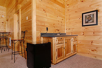 cabin with a wet bar