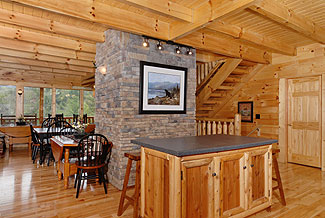 cabin with large dining area