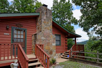 Pigeon Forge Two Bedroom Secluded Rustic Cabin Rental