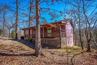 Secluded Pigeon Forge Two Bedroom Chalet Rental