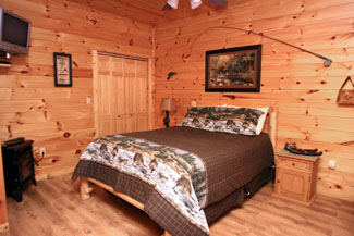 Pigeon Forge 2 bedroom cabin rental featuring gameroom