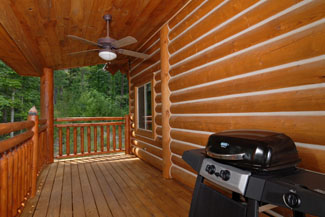 Pigeon Forge Cabin that features an outdoor cooking grill