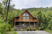 Tennessee Vacation Log Cabin Rental with Two Bedroom Plus Loft Cabin with Whirl Pool Hot Tub Pool Table