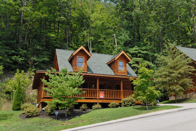 Beary naked smoky mountain ridge cabin 135 pigeon forge 1 for Eagles ridge log cabin