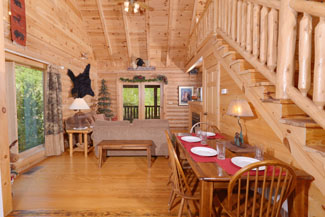 Pigeon Forge Cabin Rental conveient to the Parkway featuring a seating area