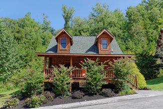 Pigeon Forge One Bedroom Plus Loft Cabin Rental that is convenient to Pigeon Forge Cabin Rental