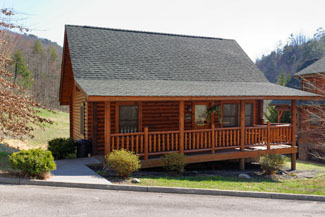 Pigeon Forge Two Bedroom Cabin Rental with Seasonal Swimming Pool Access