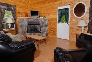 pigeon forge cabin living room