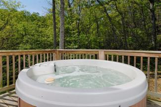 secluded petfriendly cabin with hot tub