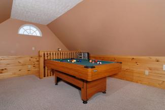 loft area with pool table