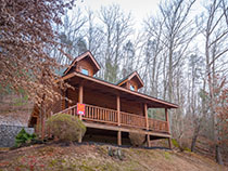 Pigeon Forge One Bedroom Smoky Mountain Ridge River Access Cabin Rental