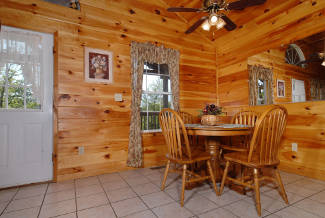 rustic cabin dining room