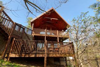 Pigeon Forge One Bedroom Deluxe Secluded Cabin Rental Hot Tub-Pool Table-Mountain View