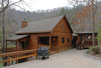 Private One Bedroom Pigeon Forge Vacation Cabin Rental on a Stocked Fishing Pond