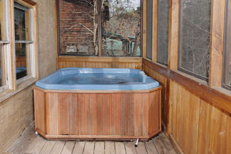 Pigeon Forge Seven Bedroom Cabin Rental with Year Round Private Outdoor Hot Tub