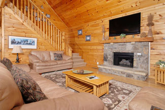 Pigeon Forge Cabin with a Flat Screen Tv and a Large Kitchen Area