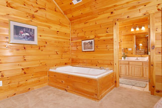 Pigeon Forge Cabin Indoor Whirlpool