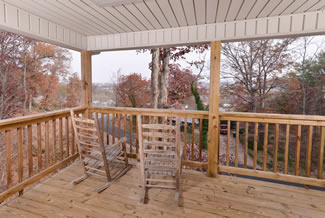 Pigeon Forge Two Bedroom Cottage Rental with a Downtown Pigeon Forge View