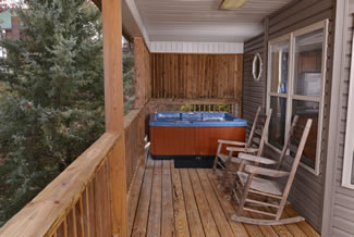 Pigeon Forge Two Bedroom Cottage Rental Year Round Outdoor Hot Tub