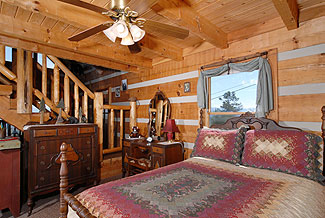 Cozy furnishings make this cabin a delight