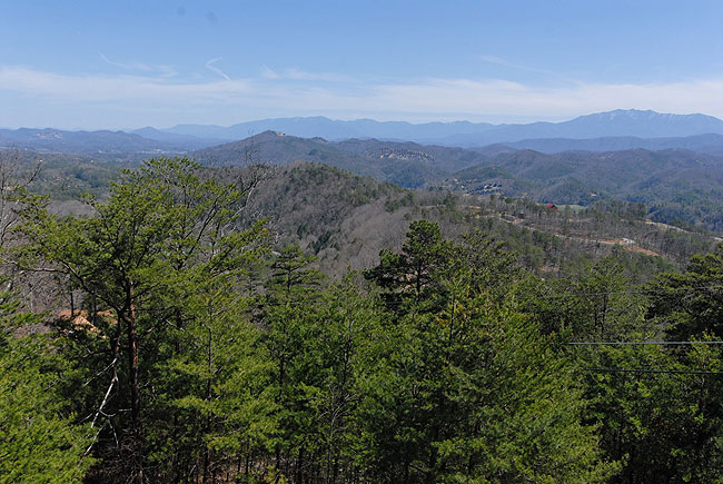 Oh My !!  The views are just spectacular from the Bear Hyde cabin on Bluff Mountain