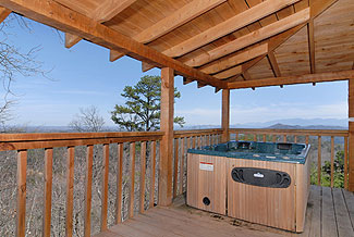 Your hot tub is ready !!  And on a covered porch, too...
