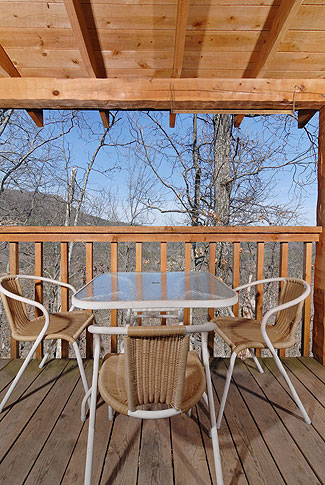 Enjoy a meal on your covered porch