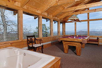 And a 2 person whirlpool tub in the loft game room, too...   How cool is that ?