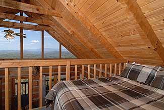 Check out the views from the loft bedroom