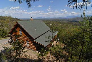 Smoky Mountain One bedroom Plus Loft Non Smoking Cabin Rental with panormic mountain views