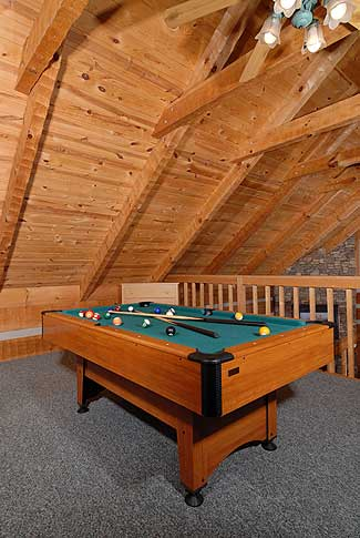 And a pool table in the loft