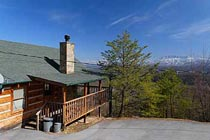 Pigeon Forge Honeymoon Open Floor Plan Cabin Rental.