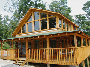 Tennessee Vacation Cabin Rental with a Pigeon Forge Panoramic Mountain View