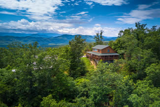 Pigeon Forge One Bedroom Plus Loft Luxury Cabin Rental -Mountain View