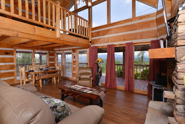 Pigeon Forge One Bedroom Plus Loft Mountain View Cabin Rental