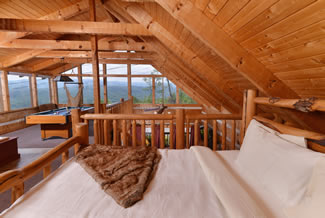 Panoramic Mountain View Cabin Rentals from the Upstairs Loft