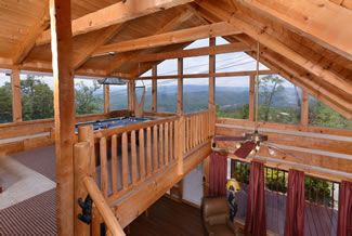 Pigeon Forge Cabin Rental One Bedroom Mountain View
