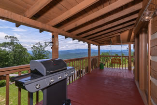 Wears Valley-Bluff Mountain One Bedroom Plus Loft Cabin Rental