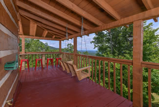 Pigeon Forge One Bedroom Plus Loft Luxury Cabin Rental