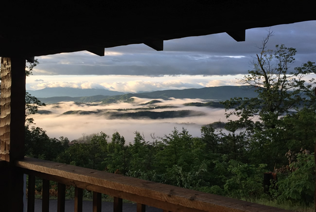 Scenic Pigeon Forge One Bedroom Honeymoon Cabin Rental View