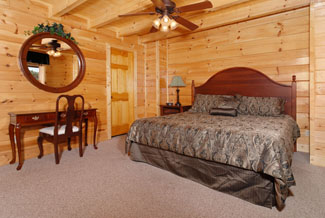 Pigeon Forge Cabin Rental with a sit down vanity for getting ready in the morning