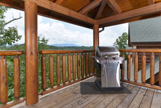 Pigeon Forge Cabin Rental with a gas grill