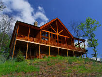 Pigeon Forge Three Bedroom Vacation Cabin Rental with indoor swimming pool