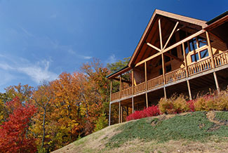 Pigeon Forge Handicap Friendly Cabin that features a beautiful mountain view