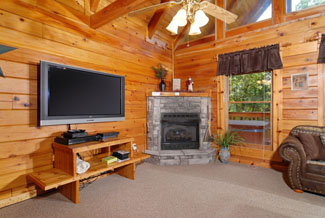 Pigeon Forge Cabin Large Flat Screen Television