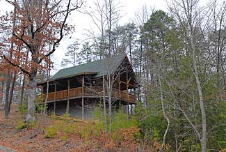 Pigeon Forge Secluded One Bedroom Plus Loft Cabin Rental with a Smoky Mountain View and a game table for entertainment