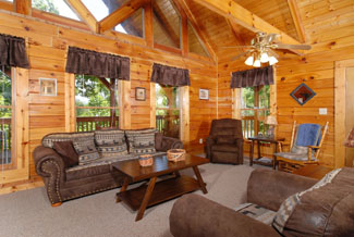Pigeon Forge One Bedroom Plus Loft Family Retreat Cabin Rental