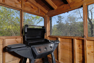 Pigeon Forge Cabin Outdoor Gas Grill