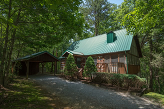 Pigeon Forge One Bedroom Honeymoon Cabin Rental